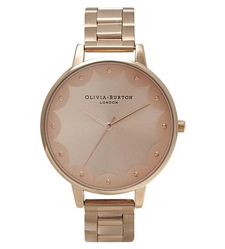 OLIVIA BURTON OB14SE02 Scalloped Edge rose gold-plated watch (Rose gold
