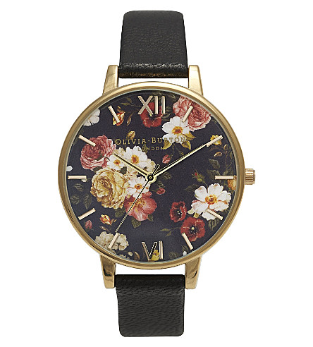 OLIVIA BURTON Winter Garden yellow gold-plated watch (Gold