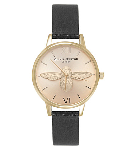 OLIVIA BURTON OB15AM70 gold-plated moulded bee watch