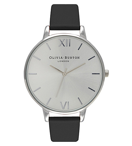OLIVIA BURTON OB15BD77 Big Dial stainless steel and leather watch