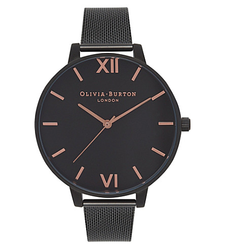 OLIVIA BURTON OB15BD83 After Dark mesh watch (Black