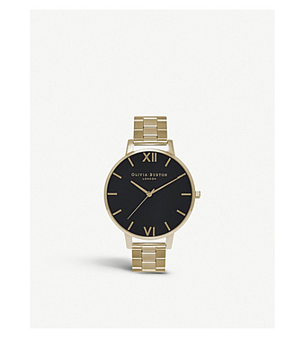 OLIVIA BURTON Ob15bl24 Big Dial gold-plated watch