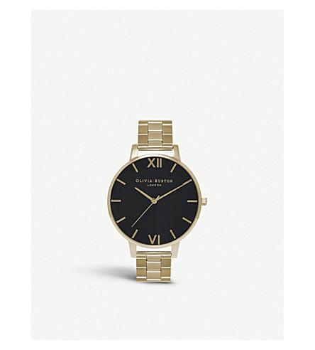 OLIVIA BURTON Ob15bl24 大表盘镀金手表
