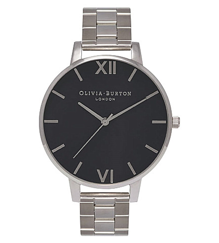 OLIVIA BURTON OB15BL25 Big Dial silver-plated watch
