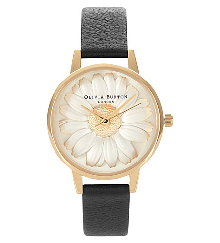 OLIVIA BURTON OB15EG38 Midi 3D Daisy gold-plated watch