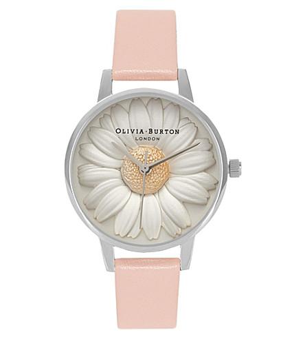 OLIVIA BURTON OB15EG39 3d daisy silver-plated watch