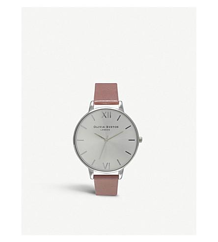 OLIVIA BURTON 大表盘玫瑰镀金手表 (银