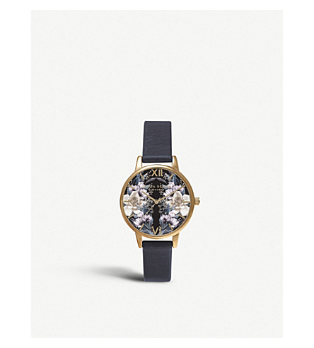 OLIVIA BURTON OB15EX74 gold-plated floral watch
