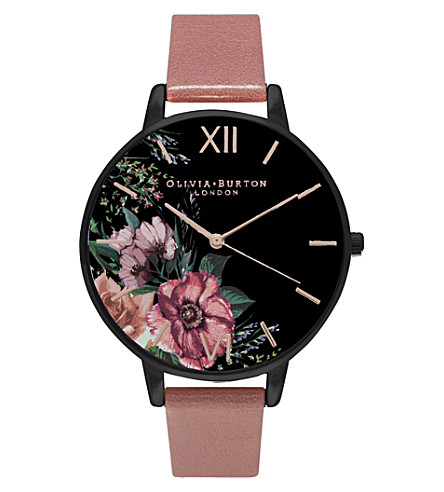 OLIVIA BURTON OB15FS60 leather watch (Pink