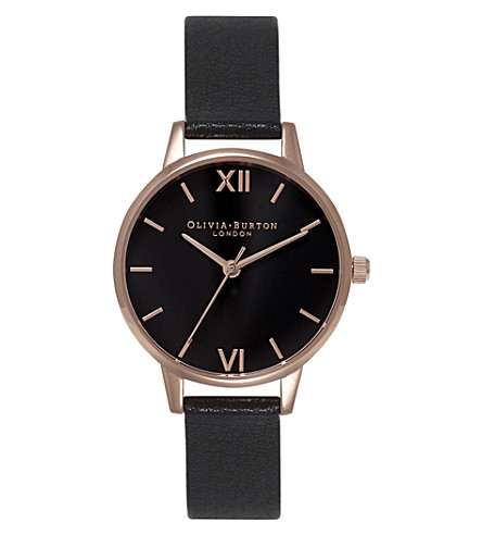 OLIVIA BURTON Ob15md42 Midi Dial rose gold-plated watch (Black