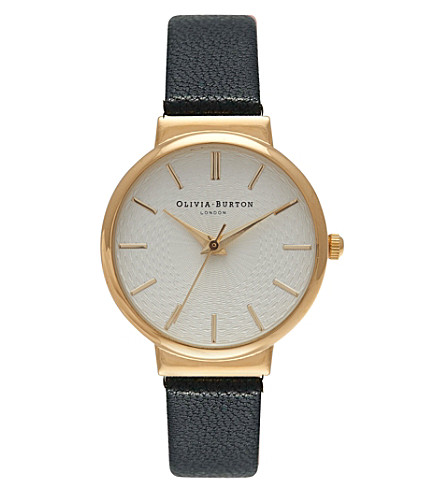 OLIVIA BURTON The hackney gold-plated watch (White