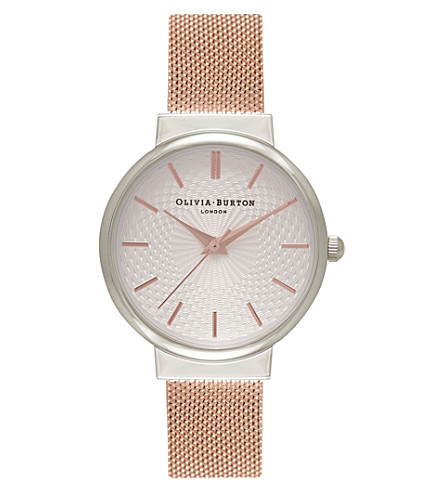 OLIVIA BURTON OB15TH18 Hackney silver and rose gold-plated watch
