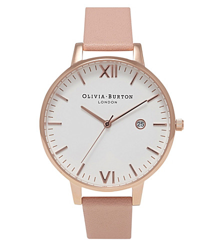 OLIVIA BURTON Ob15tl02 Timeless rose gold-plated watch (White
