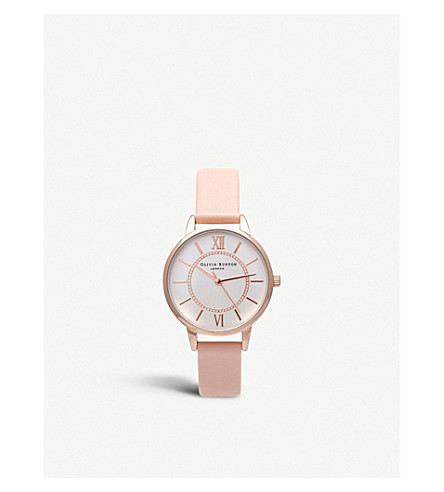 OLIVIA BURTON OB15wd28 wonderland rose gold-plated watch (Silver