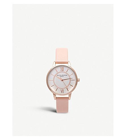 OLIVIA BURTON OB15wd28 仙境玫瑰镀金手表 (银