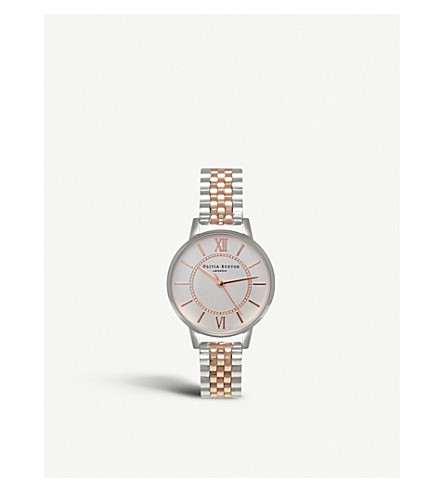 OLIVIA BURTON Ob15wd40 Wonderland rose gold-plated stainless steel watch (Silver