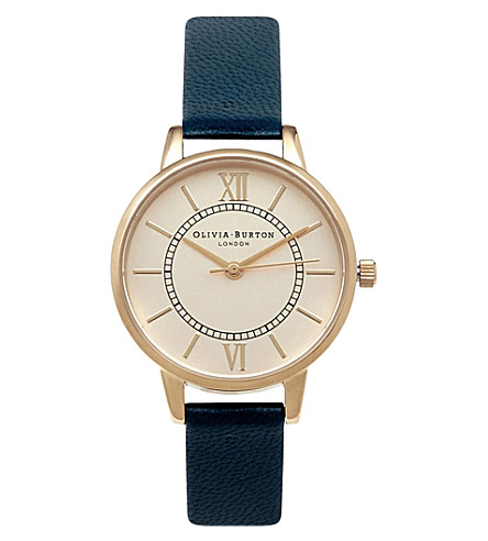 OLIVIA BURTON ob15WD53 wonderland stainless steel and leather watch