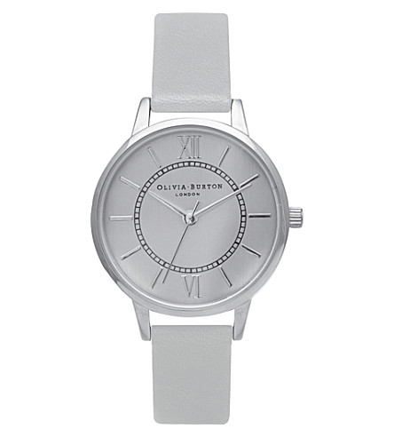 OLIVIA BURTON ob15WD54 wonderland stainless steel and leather watch