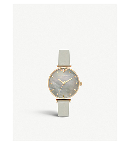 OLIVIA BURTON Gold-plated and mother-of-pearl watch