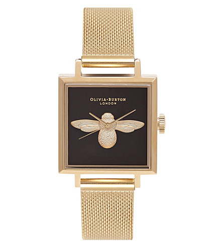OLIVIA BURTON OB16AM90 gold-plated bee motif watch