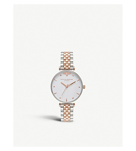 OLIVIA BURTON OB16AM93 stainless steel bee motif watch