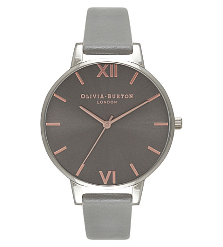 OLIVIA BURTON OB16BD90 big dial stainoless steel and leather watch