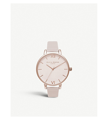 OLIVIA BURTON OB16BD95 rose-gold and leather watch