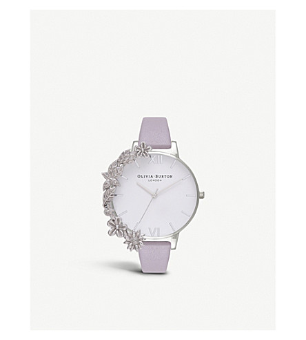 OLIVIA BURTON Embellished stainless steel watch
