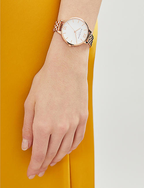 OLIVIA BURTON OB16DEW01 Demi Dial rose gold-plated watch
