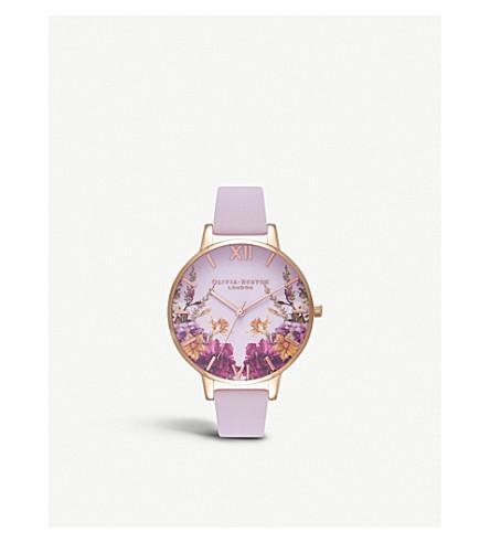 OLIVIA BURTON OB16EG81 Enchanted Garden floral-print rose gold-plated watch