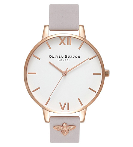 OLIVIA BURTON Quartz white dial leather strap