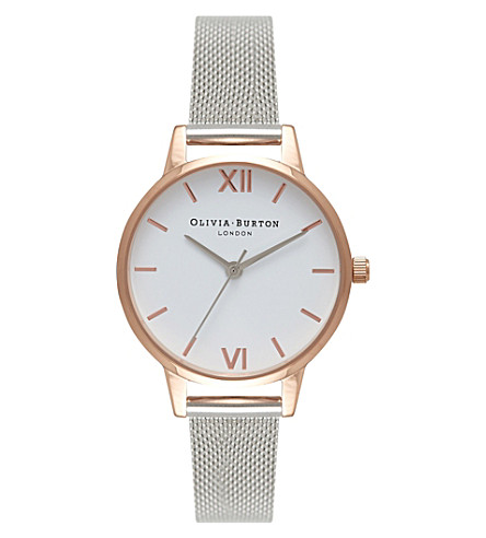 OLIVIA BURTON OB16MDW02 midi dial rose gold-plated stainless steel watch