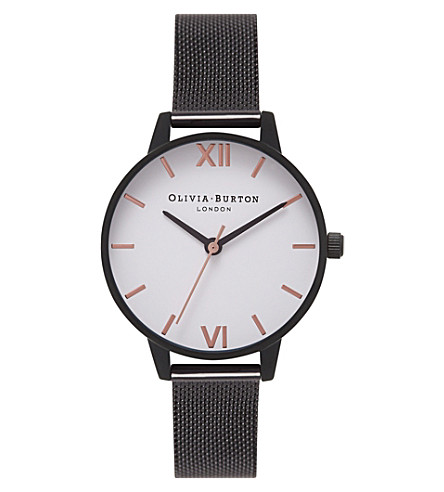 OLIVIA BURTON OB16MDW08 ion-plated stainless steel watch