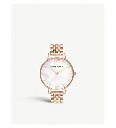 OLIVIA BURTON OB16MOP03 半珍贵玫瑰镀金和珍珠母手表