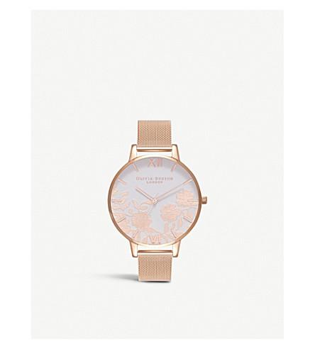 OLIVIA BURTON OB16MV79 Lace Detail rose gold-plated watch