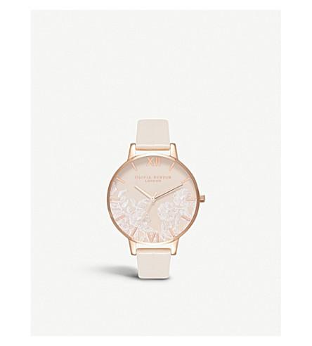 OLIVIA BURTON OB16MV80 floral-print stainless steel watch