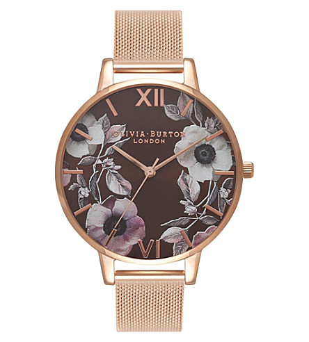 OLIVIA BURTON OB16PL26 rose-gold floral watch