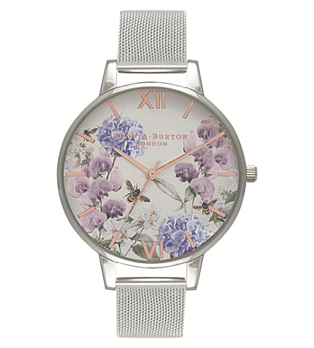 OLIVIA BURTON OB16PL34 Floral stainless steel watch