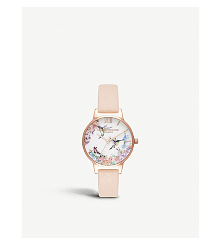 OLIVIA BURTON OB16PP20 Painterly prints rose gold-plated watch