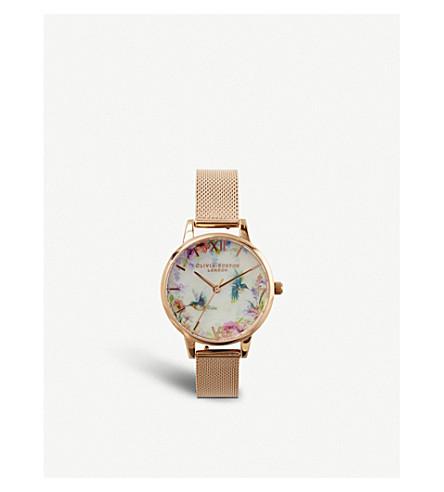 OLIVIA BURTON OB16PP49 玫瑰镀金不锈钢腕表