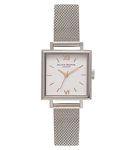 OLIVIA BURTON OB16SS06 square stainless steel watch