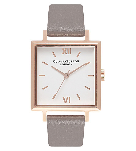 OLIVIA BURTON OB16SS21 leather and rose gold-plated watch