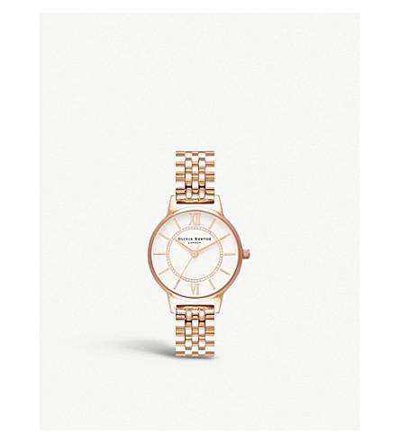 OLIVIA BURTON Wonderland rose-gold stainless-steel quartz watch