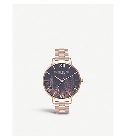 OLIVIA BURTON OB16WG45 Dark Bouquet stainless steel watch
