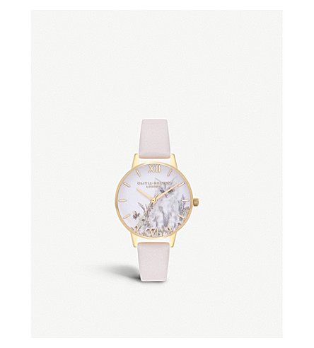 OLIVIA BURTON OB16WL67 Illustrated Animals gold-plated watch