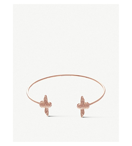 OLIVIA BURTON Moulded bee rose gold bracelet