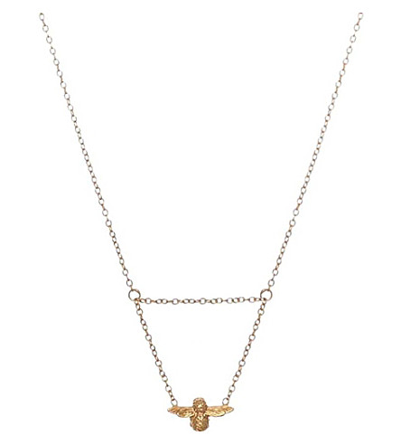 OLIVIA BURTON 18ct Gold-plated 3D Bee drop necklace