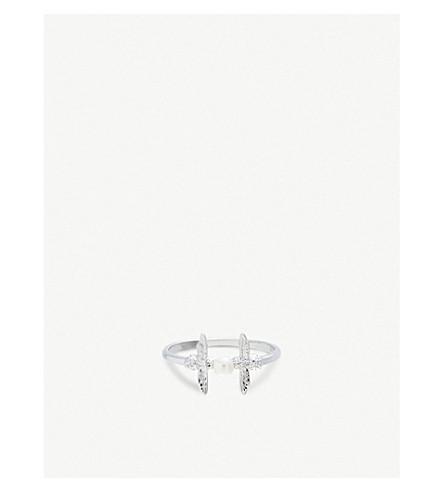 OLIVIA BURTON 珍珠蜂纯银和淡水珍珠圆环