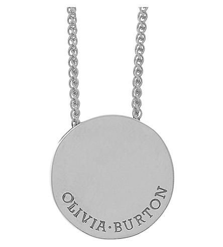 OLIVIA BURTON Engravables sterling silver pendant