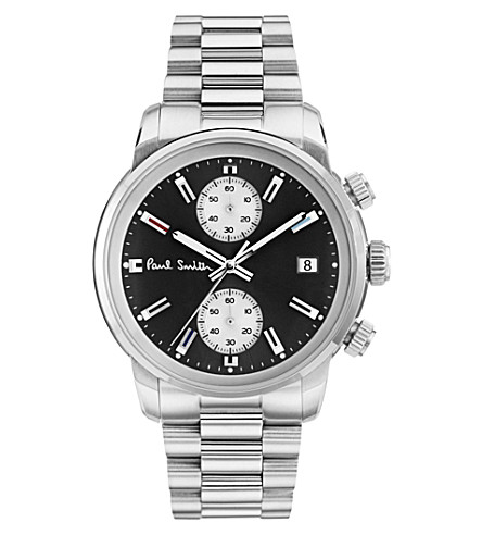 PAUL SMITH Block stainless steel watch
